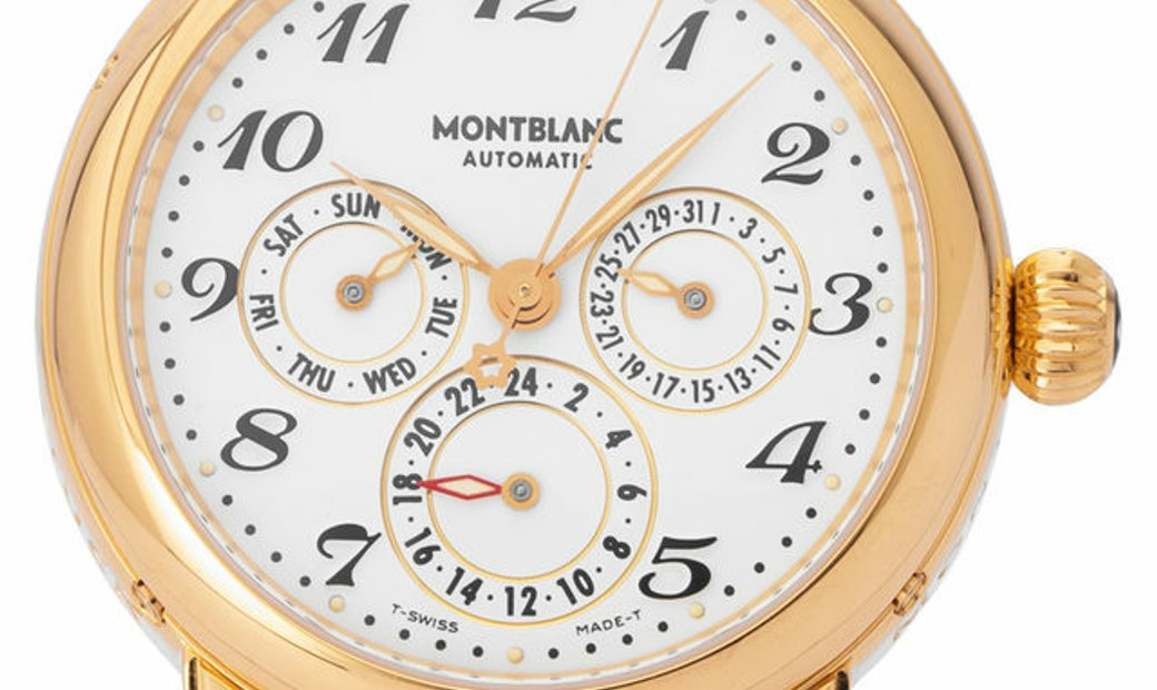 Montblanc Meisterstuck Dual Time Automatic  7014, Arabic Numerals, 1992, Good, Case mat