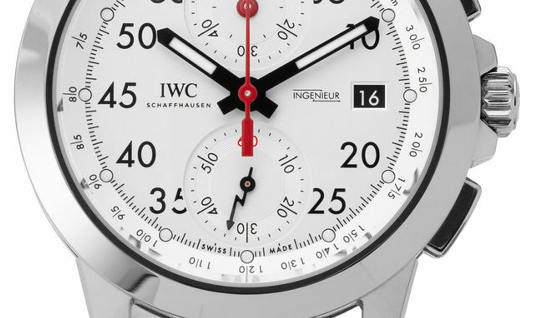 IWC Ingenieur Chonograph Sport IW380902, Arabic Numerals, 2018, Very Good, Case materia
