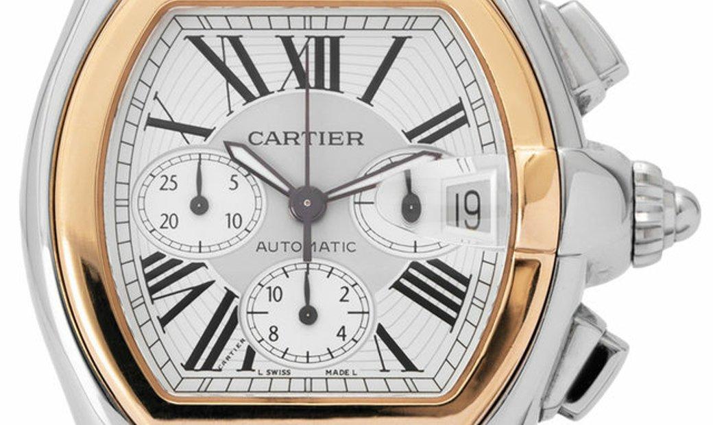 Cartier Roadster W62027Z1 2618, Roman Numerals, 2001, Very Good, Case material Steel, B