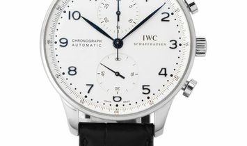 IWC Portugieser Chronograph IW371446, Arabic Numerals, 2015, Very Good, Case material S