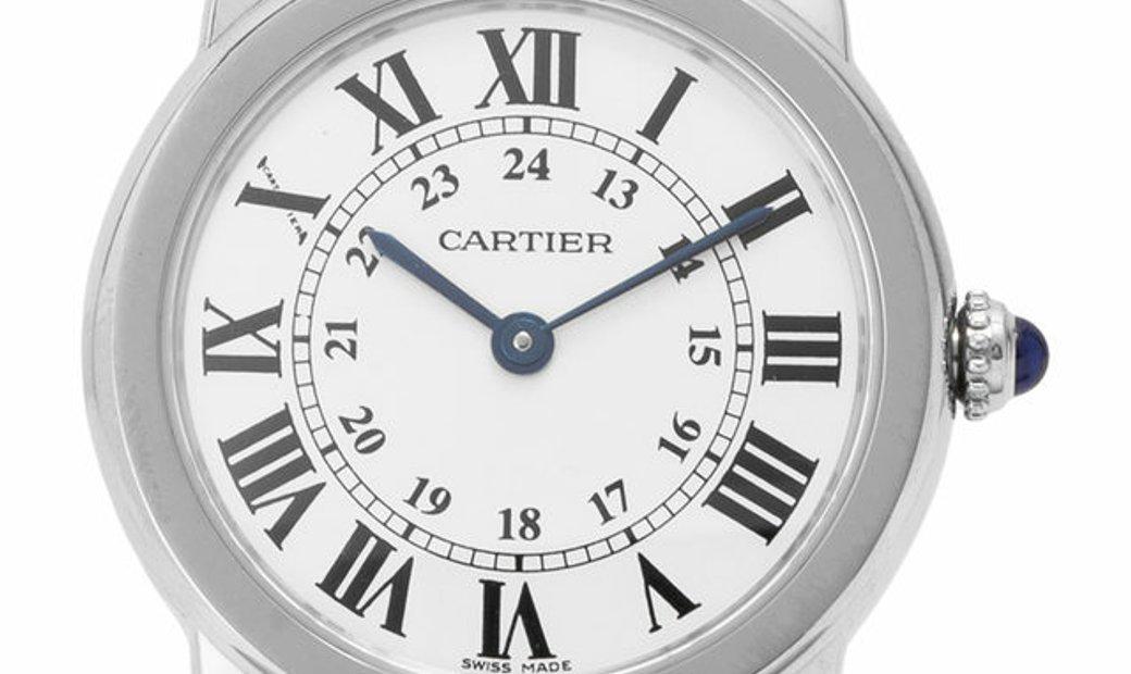 Cartier Ronde Solo W6700155 2933, Roman Numerals, 2011, Very Good, Case material Steel,