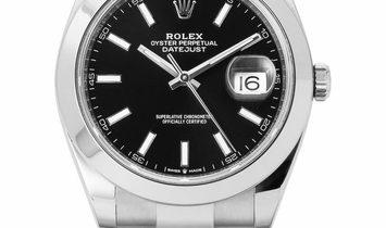 Rolex Datejust 126300, Baton, 2019, Very Good, Case material Steel, Bracelet material:
