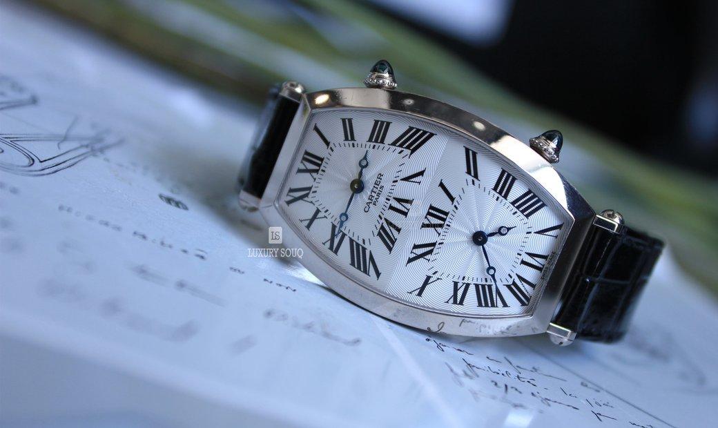 Cartier TONNEAU XL TWO TIME ZONE W1547951