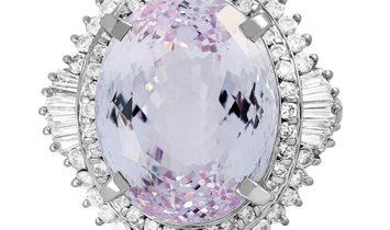 LB Exclusive LB Exclusive Platinum 1.50 ct Diamond and Kunzite Ring