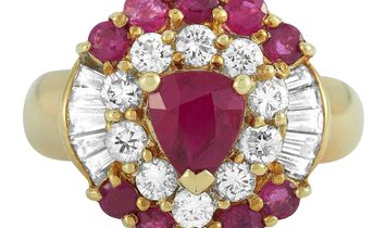 LB Exclusive LB Exclusive 18K Yellow Gold 1.07 ct Diamond and Ruby Ring
