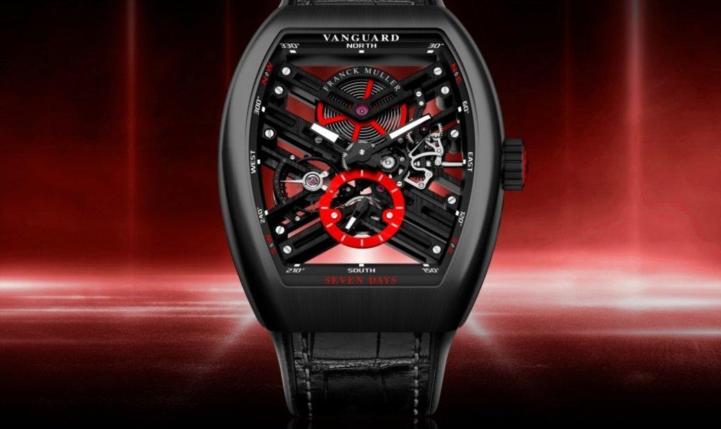 Franck Muller Vanguard Skeleton Red (UN) V45 S6 SQT Carbon ER