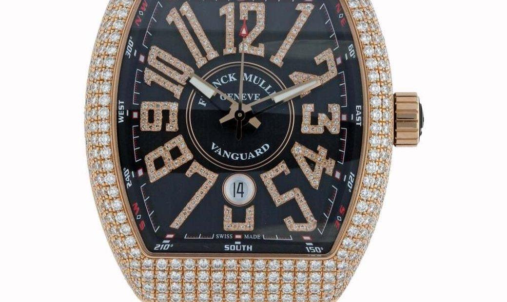 Franck Muller Vanguard Diamonds V45 SC DT D NBR CD 5N NR