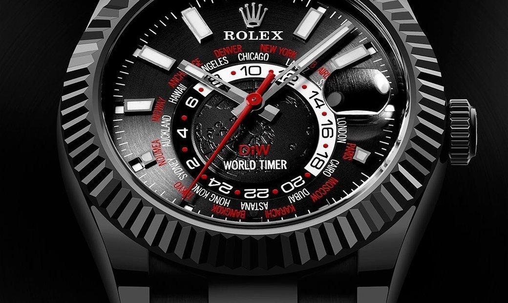"Rolex DiW 42mm Black DLC ""BLACK RED"" Sky-Dweller 326934 (Retail:US$40,000)"