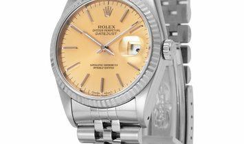 Rolex Datejust 16234, Baton, 1993, Good, Case material White Gold, Bracelet material: S
