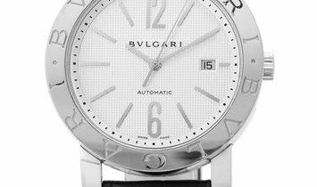 Bvlgari Bvlgari BB42SL, Baton, 2010, Good, Case material Steel, Bracelet material: Leat