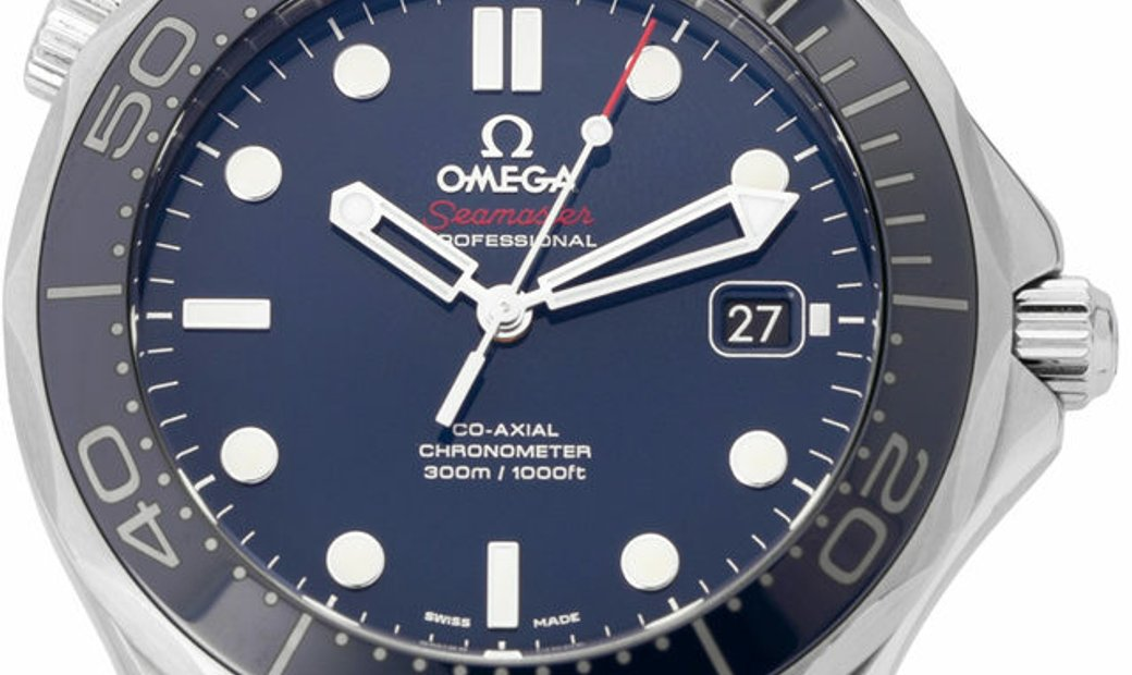 Omega Seamaster Diver 300 M 212.30.41.20.03.001, Baton, 2017, Very Good, Case material