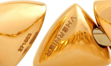 Vhernier Vhernier Freccia Mini 18K Rose Gold White Mother of Pearl Bracelet