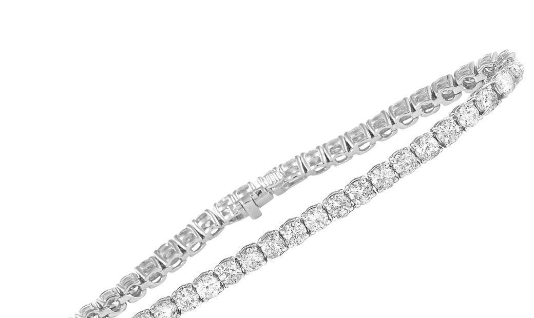 LB Exclusive LB Exclusive 14K White Gold 8.70 ct Diamond Tennis Bracelet