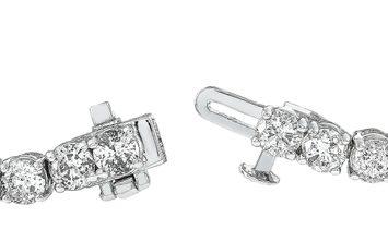 LB Exclusive LB Exclusive 14K White Gold 9.10 ct Diamond Tennis Bracelet