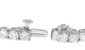 LB Exclusive LB Exclusive 14K White Gold 9.01 ct Diamond Tennis Bracelet