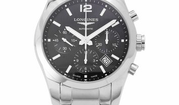 Longines Conquest Classic L2.786.4.56.6, Baton, 2020, Very Good, Case material Steel, B