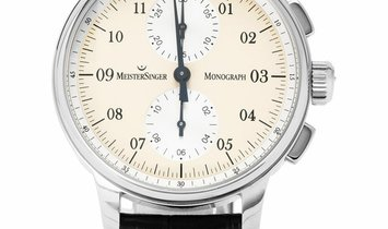 Meistersinger Monograph  MM103, Arabic Numerals, 2007, Very Good, Case material Steel,