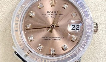 Rolex Datejust 31 278271-0024 Oystersteel and Everose Gold Diamond Set Rose Colour Dial