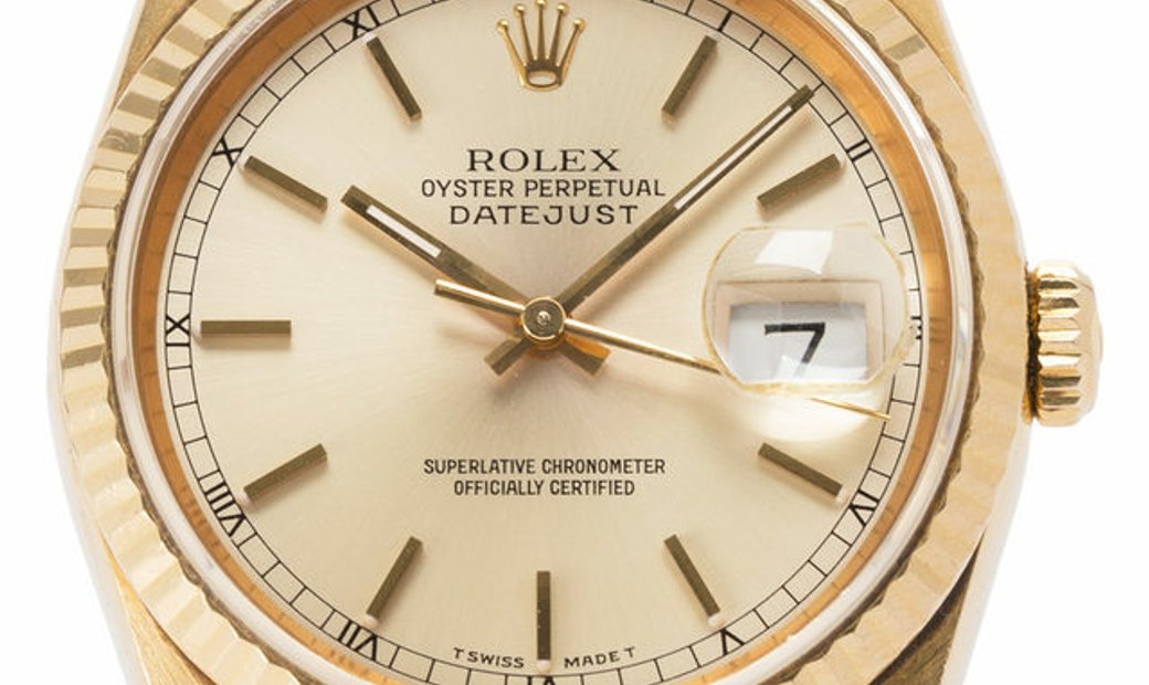 Rolex Datejust 16238, Baton, 1994, Good, Case material Yellow Gold, Bracelet material: