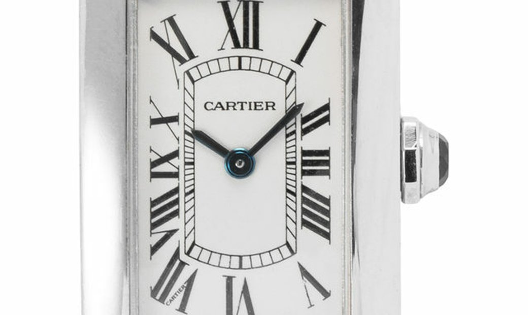 Cartier Tank Americaine 2489, Roman Numerals, 2010, Good, Case material Steel, Bracelet