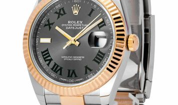 Rolex Datejust 126333, Roman Numerals, 2017, Very Good, Case material Yellow Gold, Brac