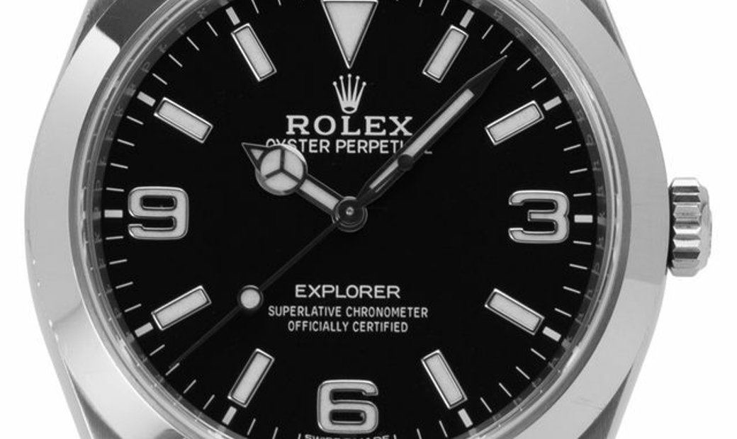 Rolex Explorer 214270, Arabic Numerals, 2020, Very Good, Case material Steel, Bracelet