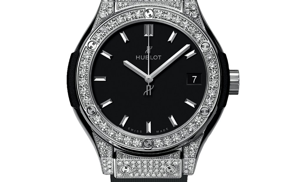 Hublot Classic Fusion Quartz Diamonds 	581.NX.1171.RX