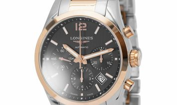 Longines Conquest Classic L2.786.5.56.7, Baton, 2018, Very Good, Case material Steel, B