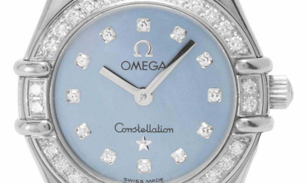 Omega Constellation Ladies 1165.77.00, Baton, 2002, Very Good, Case material White Gold