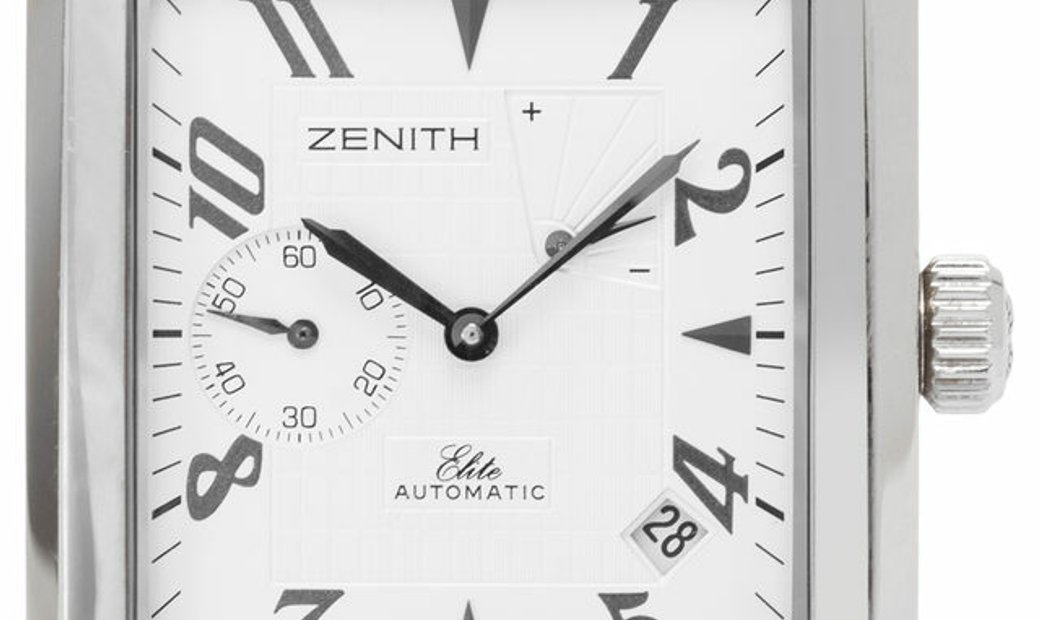 Zenith Port Royal Rectangle 03.0550.685-01.C507, Arabic Numerals, 2009, Very Good, Case