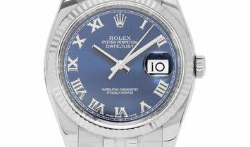 Rolex Datejust 116234, Roman Numerals, 2017, Very Good, Case material Steel, Bracelet m