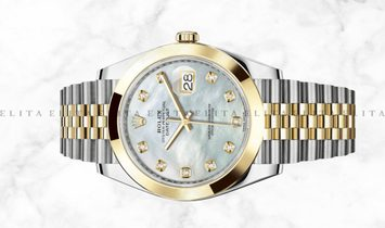Rolex Datejust 41  126303-0018 Oystersteel and Yellow Gold Diamond Set White Mother of Pearl Dial