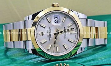 Rolex Datejust 41 126303-0001 Oystersteel and Yellow Gold Silver Dial Oyster Bracelet