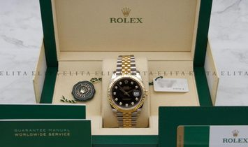 Rolex Datejust 41 126303-0006 Oystersteel and Yellow Gold Black Dial Jubilee Bracelet