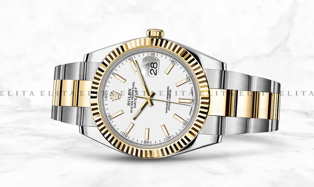 Rolex Datejust 41 126333-0015 Oystersteel and Yellow Gold White Dial