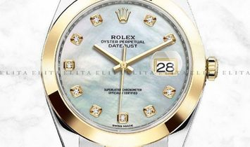 Rolex Datejust 41 126303-0017 Oystersteel and Yellow Gold Diamond Set White Mother of Pearl Dial