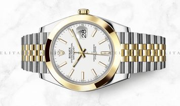 Rolex Datejust 41 126303-0016 Oystersteel and Yellow Gold White Dial Jubilee Bracelet