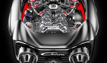 Jacob & Co. 捷克豹 [NEW] Bugatti Chiron 16 Cylinder Piston Engine Tourbillon