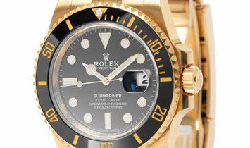 Rolex Submariner 116618LN, Baton, 2017, Very Good, Case material Yellow Gold, Bracelet