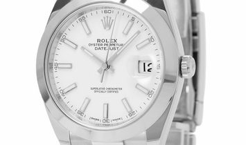 Rolex Datejust 126300, Baton, 2017, Very Good, Case material Steel, Bracelet material: