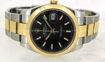 Rolex Datejust 41 126303-0013 Oystersteel and Yellow Gold Black Dial Oyster Bracelet