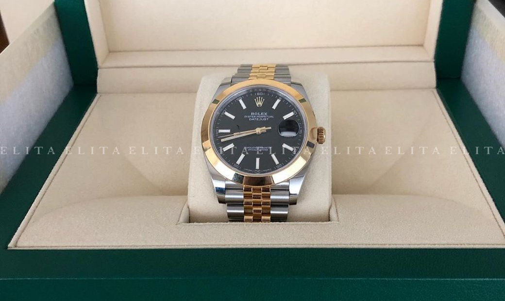 Rolex Datejust 41 126303-0014 Oystersteel and Yellow Gold Black Dial Jubilee Bracelet