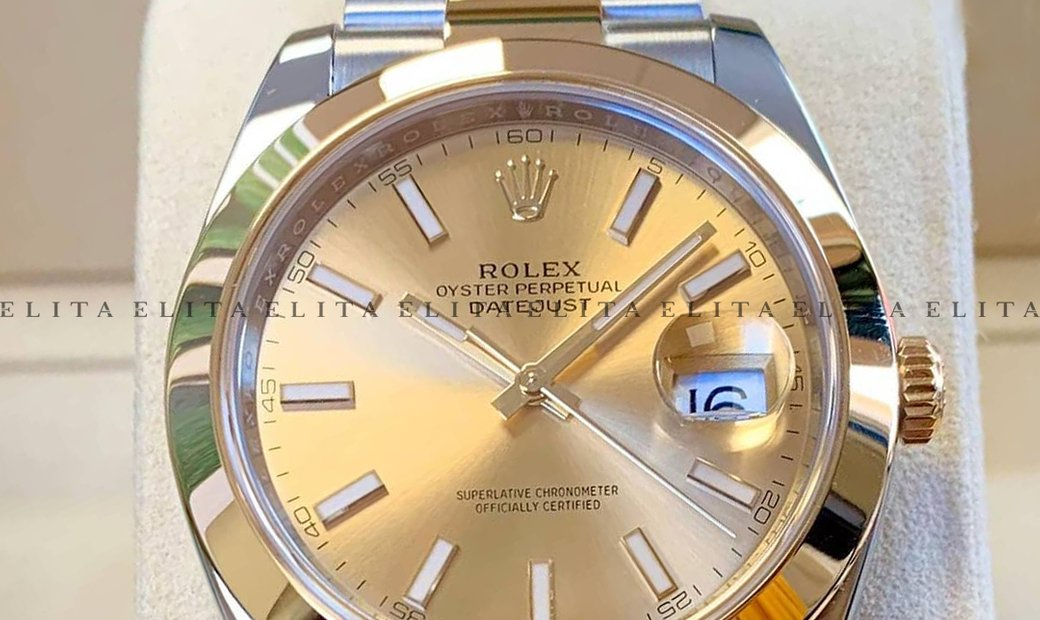 Rolex Datejust 41 126303-0009 Oystersteel and Yellow Gold Champagne Dial Oyster Bracelet