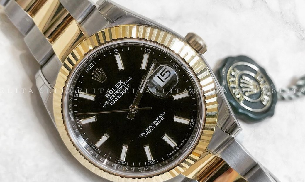 Rolex Datejust 41 126333-0013 Oystersteel and Yellow Gold Black Dial