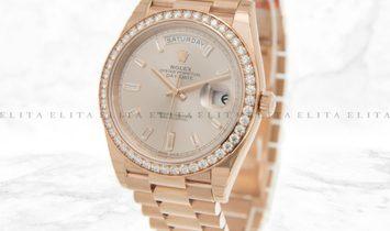 Rolex Day-Date 40 228345RBR-0007 Everose Gold Diamond Set Sundust Dial, Diamond Bezel