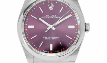 Rolex Oyster Perpetual 114300, Baton, 2015, Very Good, Case material Steel, Bracelet ma