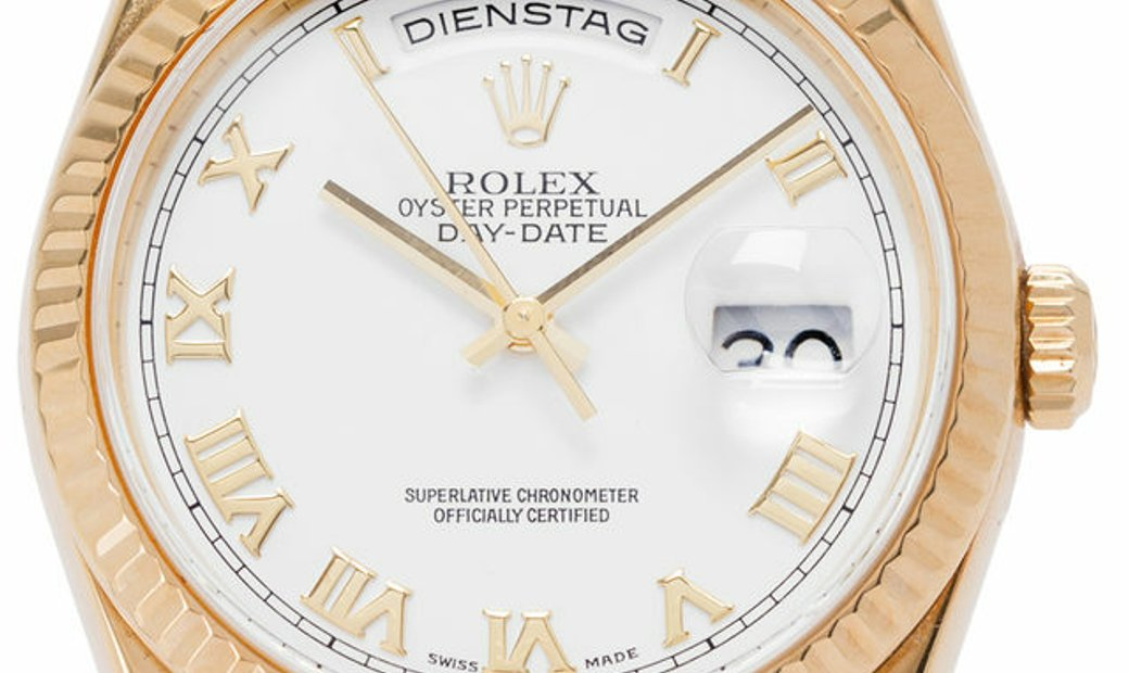 Rolex Day-Date 118238, Roman Numerals, 2001, Very Good, Case material Yellow Gold, Brac