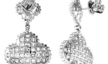 LB Exclusive LB Exclusive 18K White Gold 4.90 ct Diamond Earrings