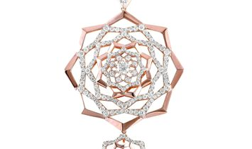 LB Exclusive LB Exclusive 18K Rose Gold 5.33 ct Diamond Pendant Necklace