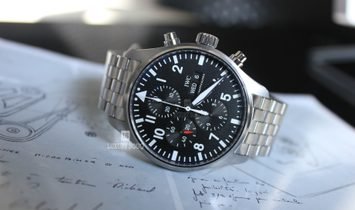 IWC PILOT CHRONOGRAPH AUTOMATIC GREY DIAL 43MM IW377719